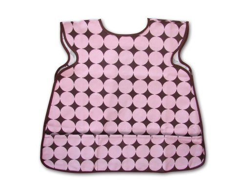 Children's Smock Pink/brown Circle-dot