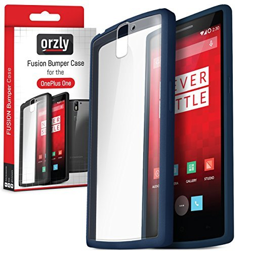 Orzly® - FUSION Bumper Case per OnePlus ONE - COPERTINA / CUSTODIA Fusión in BLU (MIDNIGHT BLUE) con Posteriore Transparente - Designed for ONE PLUS ONE SmartPhone (Alias: Flagship Model of Smart Phone named ONE Released by ONE PLUS / New 2014 Release / Original Premier Launch Version / ONE PLUS ONE / OPO / etc.) - Fits ALL Models and Versions from 2014 Original Version and onwards