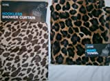 New primark leopard print bathroom set shower curtain and hand towel