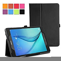WAWO Samsung Galaxy Tab S2 8.0 Case - Classic PU Leather Creative Smart Cover Folio Case for Samsung Galaxy Tab S2 8-inch Tablet - Black