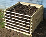 Easy-Load Wooden Compost Bin Composte...