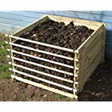 Easy-Load Wooden Compost Bin Composter 530 Litresby Primrose London
