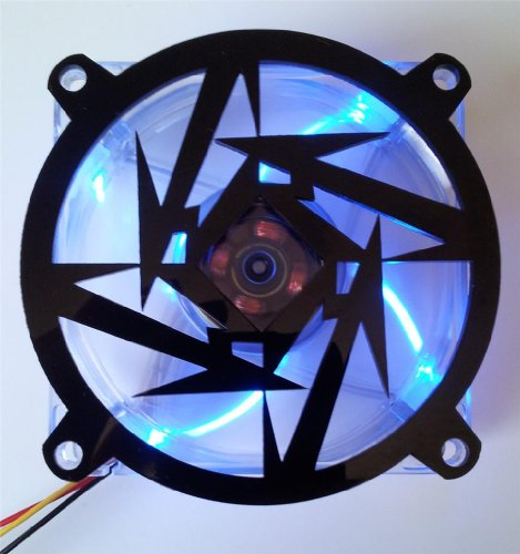 Custom Acrylic Metallica Star Computer Fan Grill 92mm (Custom Acrylic 92mm Fan Grill compare prices)