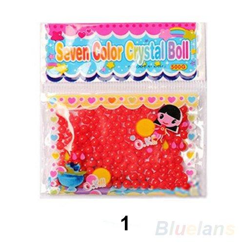 2Sacchetti di perle d' acqua sfera di gel rosso, microbille Art Floreale, decorazione, Fiore, rosso