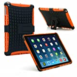 PrimeCases® Heavy Duty Orange Bumper Smart Thin Case Cover With Stylus & Screen Protector For Apple iPad Air