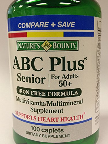 Nature'S Bounty Abc Plus Senior For Adults 50+ Iron Free Formula -- 100 Tablets
