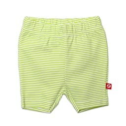 Zutano Baby Girls\' Candy Stripe Bike Shorts, Lime, 18 Months