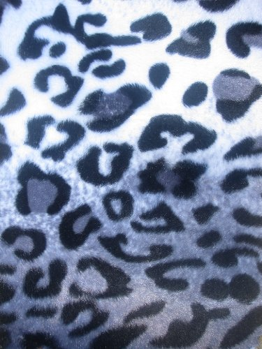 Velboa Faux Fur Fabric - White/Gray Spotted Leopard - Only $6.49/Yard