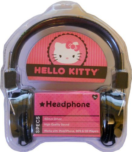 Hello Kitty Hk-39109-Wm Headphones With Peace Design