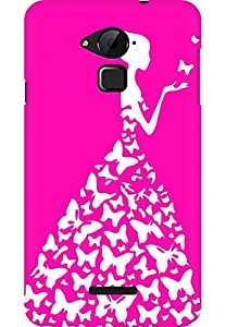 AMEZ designer printed 3d premium high quality back case cover for Coolpad Note 3 (bright pink and white girl princess)