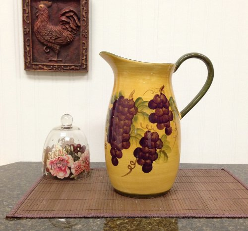 Water Pitcher, Juice Pitcher Tuscany Grape Decor back-285399