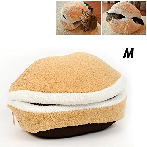 Hamburger Style Shell Nest Windproof Waterproof Removable Pet Cat Bed House Thermal Hiding (Medium)