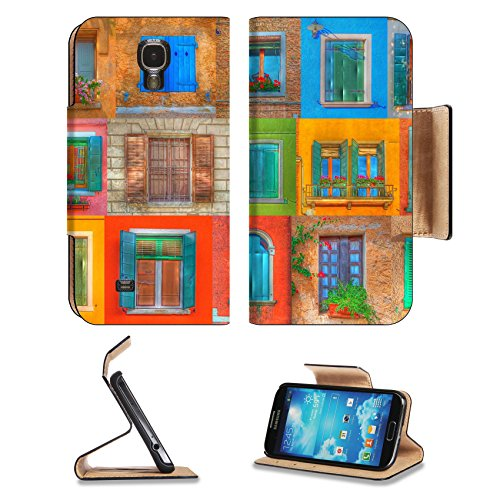 msd-premium-samsung-galaxy-s4-flip-pu-leather-wallet-case-collage-of-italian-rustic-windows-in-r-ton