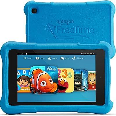 """Fire HD 7 Kids Edition, 7"""" HD Display, Wi-Fi, 16 GB, Blue Kid-Proof Case"""