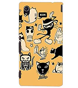 SONY XPERIA M4 AQUA CARTOONS Back Cover by PRINTSWAG