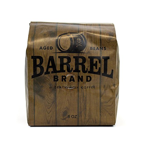 Wine Barrel Aged Premium Whole Bean Coffee - Barrel Brand by Death Wish Coffee - 8 Ounce Bag