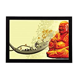 eCraftIndia Laughing Buddha Satin Matt Textured UV Art Painting