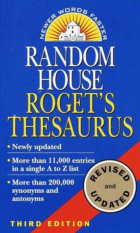 Random House Roget's Thesaurus: Second Edition, Random House