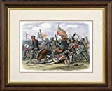 Print of 'Death of Henry Percy (Harry Hotspur) at the Battle of Shrewsbury, 21 July 1403, (c1860).' in Black Frame