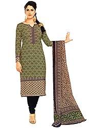 Salwar Studio Multicolor & Black Cotton Dress Material with Dupatta ShreeGanesh-311