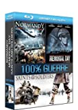 Image de coffret 3 blu-ray disc 100% guerre : normandy / memorial day / saints and soldiers