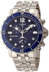 Tissot Men's T0664171104700 Seastar Stainless Steel Watch with Link Bracelet