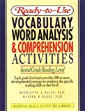 img - for Ready-To-Use Vocabulary, Word Analysis & Comprehension Activities: Second Grade Reading Level (Reading Skills Activities Library) book / textbook / text book