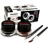 Silvercell Eye Liner Gel Eyeliner Makeup Cosmetic + 2PCS Brush Sets A21
