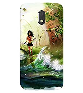 Chiraiyaa Designer Printed Premium Back Cover Case for Motorola Moto E3 Power / Moto E3 Power (girl painting nature water) (Multicolor)