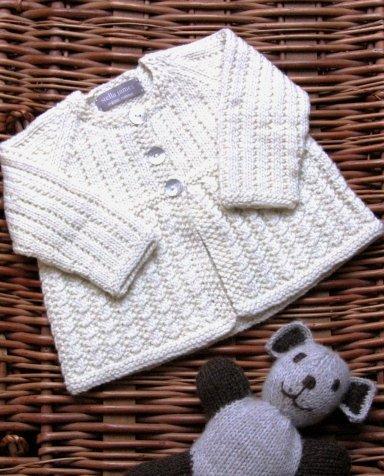 Organic Merino Wool Baby Matinee Jacket