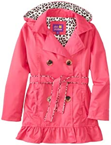 Pink Platinum Girls 7-16 Double Leopard Trench from Pink Platinum