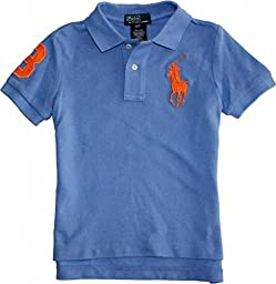 Ralph Lauren Toddler Boy\'s Big Pony Polo, 4/4T, Blue Mist