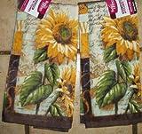 2 Ex. Large Plush Sunflower Dish Towel