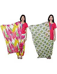 Indistar Women's Cotton Patiala Salwar With Dupatta Combo (Pack Of 2 Salwar With Dupatta) - B01HRKBSO2