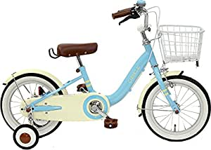CHIBICLE チビクル 子供用自転車 14インチ チェーンカバー カゴ 泥除け 補助輪付き ライトブルー MKB14-34-LB