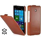 StilGut UltraSlim Case, Tasche aus Leder f�r Nokia Lumia 630 / 630 Dual SIM, cognac