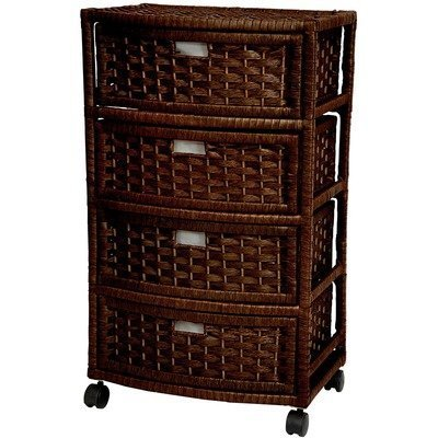 "Oriental Furniture 29"" Natural Fiber Chest of Drawers - Mocha by Oriental Furniture"