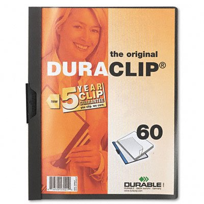 Duraclip clear front vinyl report cover, 60-sheet capacity, graphite - Buy Duraclip clear front vinyl report cover, 60-sheet capacity, graphite - Purchase Duraclip clear front vinyl report cover, 60-sheet capacity, graphite (Durable, Office Products, Categories, Office & School Supplies, Binders & Binding Systems, Report Covers)