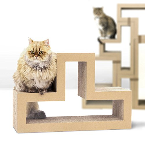 KATRIS T-Shape Modular Cat Scratcher Block | Multi-Functional Durable | Cat