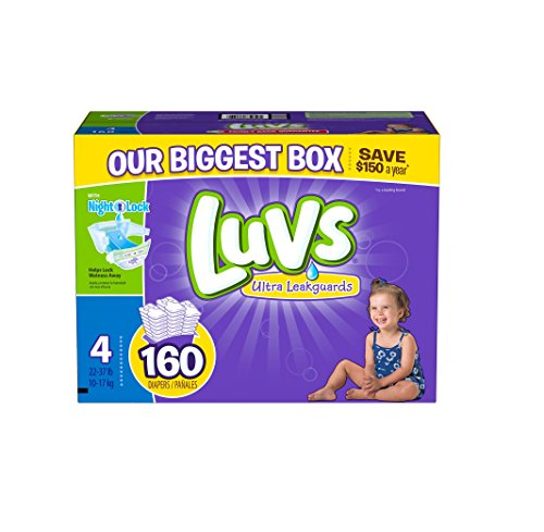 Luvs With Ultra Leakguards Diapers, Size 4, 160 Count - 1