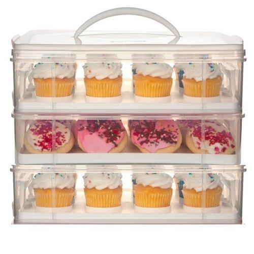Snapware 3 Layer Cupcake Cookie Cake Dessert Carrier