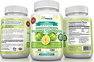 2014 Formula 80 Hca Super Strength Pure Garcinia Cambogia Extract - Launch Promo Coupon Inside 180 Count Premium Ingredients-appetite Suppressant-weight Loss Supplement-all Natural Diet Pills By Pure Natural Labs - 100 Money Back Guarantee by Pure Natural
