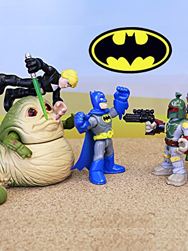 Batman with Star Wars Luke Skywalker Visits Tatooine and Meets Boba Fett and Jabba the Hutt