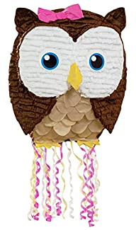19″ Owl Pink Pull-String Pinata