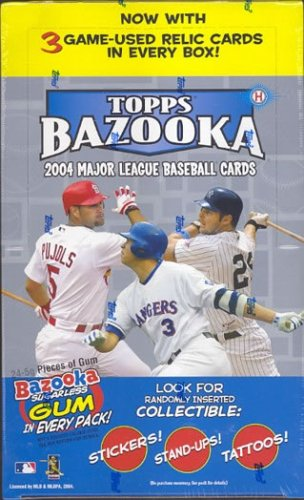 2004 Topps Bazooka Baseball Cards Hobby Box(24 packs/box)
