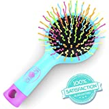 Detangling Hair Brush - Detangle Hair Easily With No Pain - Good For Wet Or Dry Hair - Adults & Kids - (Blue)