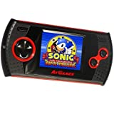 At Games GP1024 SEGA Handheld Arcade Gamer with 30 8-Bit Games Built-In, Black, (Color: black)