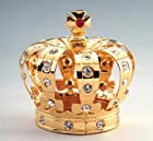 Crown 24k Gold Plated Swarovski Crystal Figure Ornament
