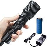 SUNSPOT LED ダイビングライト 水中ライト CREE XM-L2 T6 LED ハンディライト  懐中電灯   充電器+1x 26650バッテリー付き