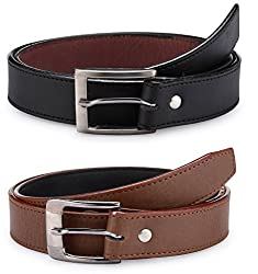 Mens combo of 2 Leather Belt(RSD707_BB)